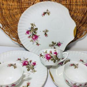 1960, rare.  Cherry Japan Moss Rose, porcela